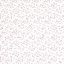 Julia Pink on White Dolls House Wallpaper
