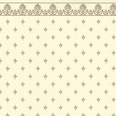 Regal Gold on Cream Dolls House Wallpaper