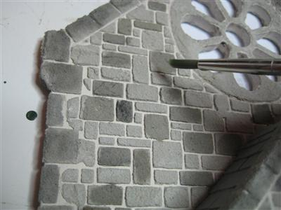 Dolls House Stone Detail Shading