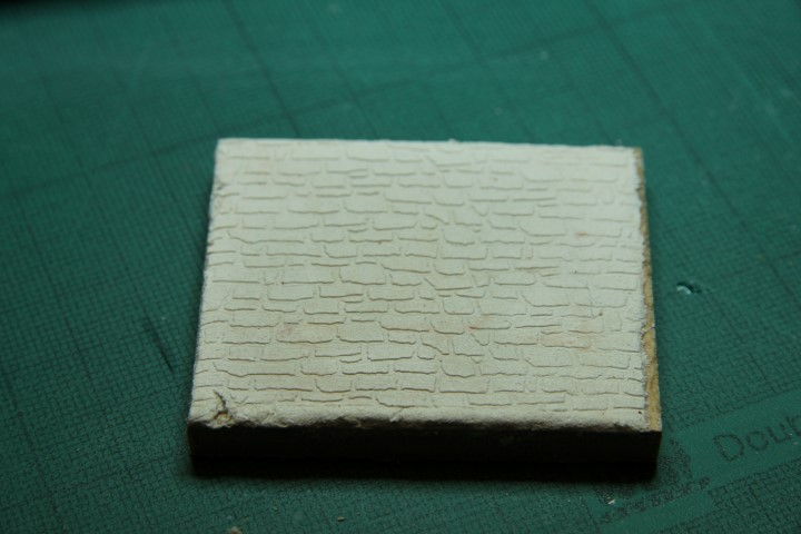 1:48 scale stone impression on air drying clay